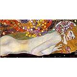 Cuadro sobre lienzo 120 x 60 cm: Water Serpents II (detail) de Gustav Klimt - cuadro terminado, cuadro sobre bastidor, lámina terminada sobre lienzo auténtico, impresión en lienzo