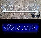 Unbekannt 24 Volt LED Lichtplatte Logo für LKW Beleuchtung Schild Tischkabine Deko Zubehör graviert 24V 5W - blau