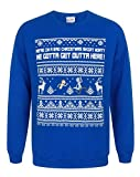 Rick And Morty We Gotta Get Outta Here Men's Christmas Sweatshirt (M)