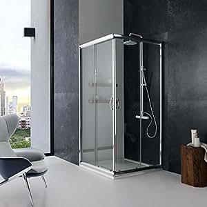 Box doccia modello giada 80x80 cristallo trasparente 6 mm - Box doccia fai da te ...