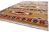 Damaskunst, Sandy Braun,Rot,Braun,Weiß, Teppich 200 cm x 300 cm,Kelim Orient,Wand Teppich,Carpet, Rug, S 1-6-82