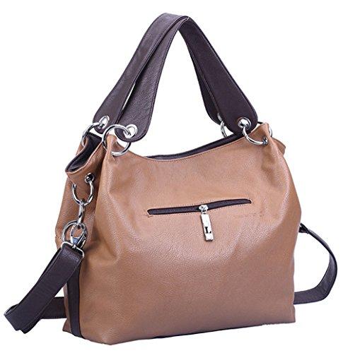 Keshi Pu Cool Damen Handtaschen, Hobo-Bags, Schultertaschen, Beutel, Beuteltaschen, Trend-Bags, Velours, Veloursleder, Wildleder, Tasche Rosa
