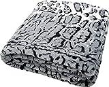 daydream Kuscheldecke aus Kunstfell/Faux Fur Double Polyester Schnee-Leoparden-Decke 33 x 31 x 12 cm