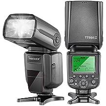 Neewer 5500k Torcia con lampeggiatore professionale 2.4G Wireless NW TT660 II con diffusore Flash per Canon, Nikon, Pentax, Olympus