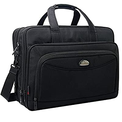 17 inch Laptop Bag, Shoulder Bags, Expandable Large Capacity Business Briefcase, 2-in-1 Messenger Bags for Men, Crossbody Travel Bag Fit Up to 17.3 inch Laptop Notebook MacBook Pro Air Ultrabook - inexpensive UK light shop.