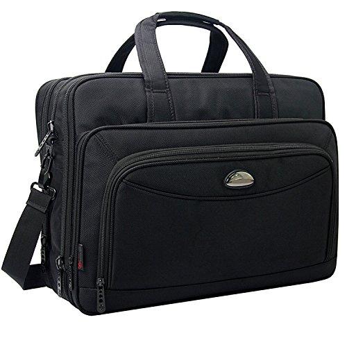 Erweiterbare Laptop-tasche (17-Zoll-Laptoptasche, Umhängetaschen, erweiterbare Großraum-Business-Aktentasche, 2-in-1-Messenger-Taschen für Männer, Crossbody Reisetasche Fit bis 15,6 Zoll Laptop Notebook MacBook Pro Air Ultrabook)