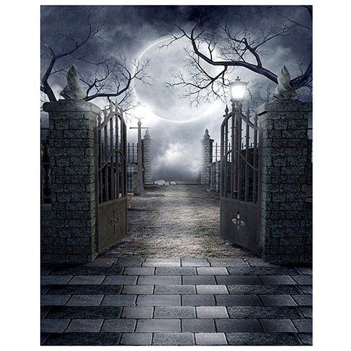 SODIAL(R) 5x7 Ft Vollmond Nacht Halloween Thema Vinyl -