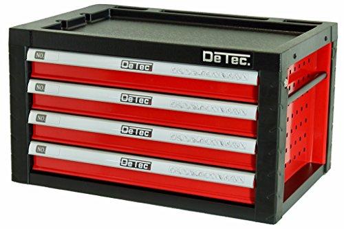 DeTec. Werkzeugkiste in rot - leer - Viel Platz für Ihr Werkzeug