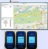 Neuste Version G-PORTER GP-102+ (Blau) GPS Positionsanzeiger Positionsmarker Positionsfinder Datenlogger GPS Routenplaner GPS Fototagger GPS Trainingsanzeiger GPS Positionsguider GPS Synchronisierte Uhr GPS Höhenanzeiger GPS Tacho Digitaler Kompass Schrittzähler Wetterstation Wasserwage Handgerät Geräte Tracker Outdoor Geochaching Geotag Wandern - 4