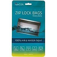 Noaks Bag - Bolsa Seca, Embalaje Protector, Bolsa enstanca, 100% impermeable hasta 10 m, protección contra olores, apropiado para alimentos, S, 5 piezas