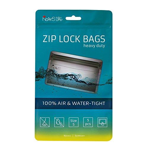 Noaks Bag | Schutzhülle, ZIP-Beutel, Dry-Bag | Größe S – 5 Stück | 100 % wasserdicht, geruchsdicht & sicher | Für Urlaub, Sport & Re...