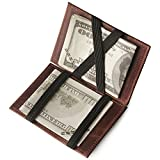 Mens Magic Wallet Leather Money Clip ID Cash Holder Credit Card Holder Slim Wallet