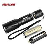 Sisit Taktische Polizei Taschenlampe, 5000LM Zoom XM-L T6 LED 5 Modi Taschenlampe Aluminium Taschenlampe Taktische Polizei LED Taschenlampe (A)