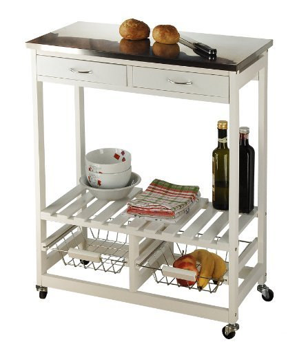 My Home Küchenrollwagen-weiß