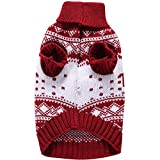 YZBear Hundebekleidung Hundemantel Hundejacke Weihnachten Rentier Hundepullover Warm Winter für kleine und große Hund - 2