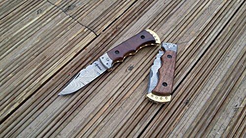 51w9GzulA9L - Perkin Handmade Damascus Folding Knife - Legal to Carry