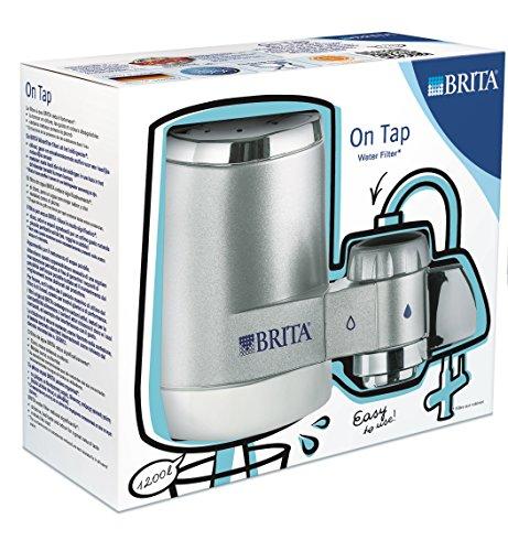 BRITA On Tap Wasserfilter für Anschluss an den Wasserhahn, Farbe chrom (Wasser Filter Wasserhahn Purifier)