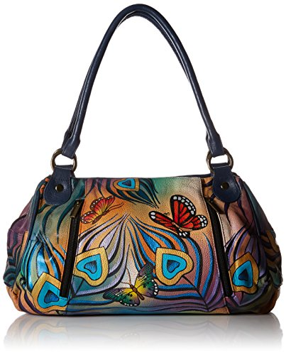 anuschka-womens-anna-handpainted-leather-ruched-large-satchel-top-handle-handbag-flying-peacock-one-
