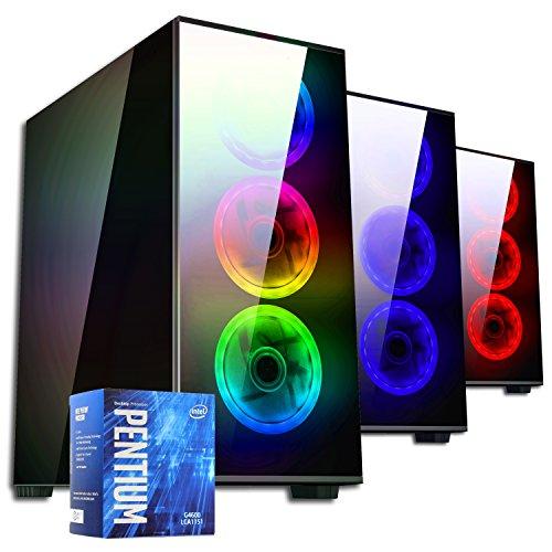 PC DESKTOP GAMING▬DILC MERAK RGB▬ASSEMBLATO COMPLETO▬COMPUTER FISSO Intel G5600 3.9 GHZ▬SK VIDEO GT 1030 AERO ITX 2GB OC▬RAM 8GB▬SSD+HD 1TB