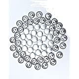 Sewn Button Moulds For Sewing And Embroidery,Size 1.8 Cm,Aluminium (Aluminum)