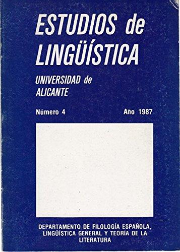 ESTUDIOS DE LINGÜÍSTICA 1987. Nº 4