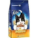 Felix Trocken Meaty Sensations mit Geflügel Katzenfutter von Purina, 6er Pack (6 x 2 kg)