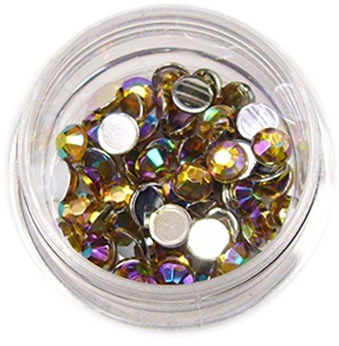 RM Beautynails Pierres en strass rondes de 4 mm Jaune miel Env. 50 pièces pour manucure et nailart