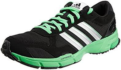 adidas Men's MARATHON 10 NG M Black, Metallic Silver Vivid Green Mesh Running Shoes - 11 UK