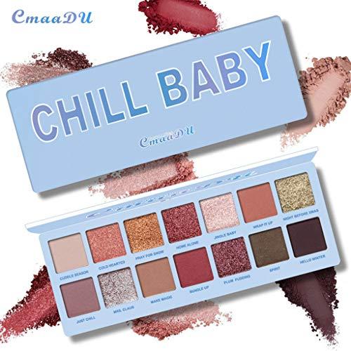 LCLrute Shimmer Eye Glitter lidschatten Anhaltende Make-Up schönheit Kosmetik paleta de sombra Farbton 6 Farbe (A)