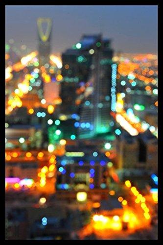 Bild mit Rahmen Hady Khandani - RIYADH BLURR - SAUDI ARABIA - Digitaldruck - Holz schwarz, 30 x 45cm - Premiumqualität - HADYPHOTO, Fotografie, Photografie, Vorderasien, Saudiarabien Panorama, Stadt, Riad, .. - MADE IN GERMANY - ART-GALERIE-SHOPde
