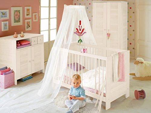 Oferta económica: completo cuarto de ninos Niklas, blanco. Madera de pino