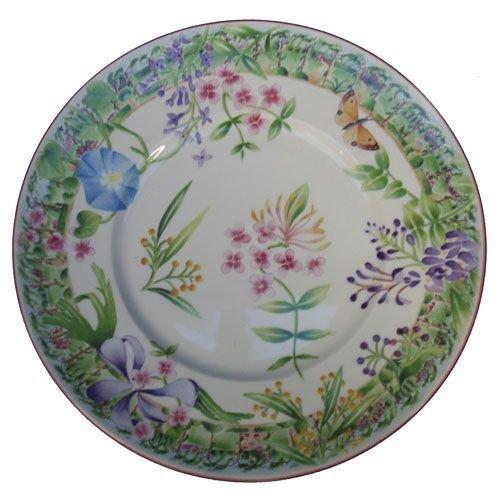 Faïencerie de Niderviller Assiette Plate Ronde Vent de Fleurs faïence - Lot de 4