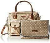 bebe-jou 310039 Wickeltasche in gepunktete Naturfarben und mit passender Wickelunterlage, beige - 6