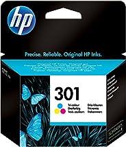 HP 301 CH562EE, Tricolor, Cartucho de Tinta Original, compatible con impresoras de inyección de tinta HP DeskJ