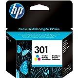 HP 301 CH562EE Cartuccia Originale, da 165 Pagine, per HP DeskJet Serie 1000, 1050 1500, 2000, 2050, 2500, 3000 e 3050, HP En