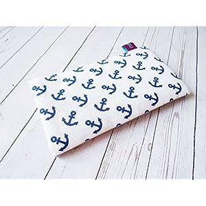 nelomi Maßanfertigung Handytasche Handyhülle Anker blau weiß