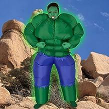 Traje inflable explosión Muscular increíble verde fuerte musculoso Halloween novedad