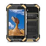 Smartphone Antichoc, Blackview BV6000S Smartphone Etanche (Antipoussière - 4G - 4500mAh Batteries - Dual Micro SIM - Appareil Photo 8MP - NFC - GPS et GLONASS - Ecran 4.7 HD - Android 7.0), Portable Incassable, Jaune