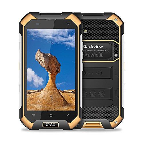 """【2018 Ultima Versione】Blackview BV6000S Outdoor Smartphone Dual Sim 4G da 16GB, 32GB Espandibili, Batteria 4500mAh, 4.7"""" HD Cellulare, Doppia Fotocamera 8 e 2MP, GPS/GLONASS/NFC/Hotspot/WIFI-Giallo"""