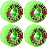 Santa Cruz Skateboards Slimeballs Squirt Ball Vomit Mini Green Skateboard Wheels–56mm 97A (Set of 4)