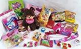 Geschenkpost24 101621 Schultüte 22cm Monchhichi Mädchen gefüllt mit Schlüsselanhänger Spielsachen zum Schulanfang