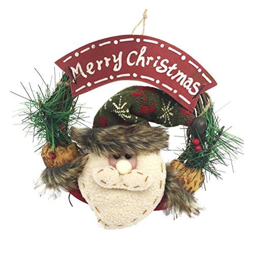 Tinksky Merry Christmas Wreath Door Wall Garland...