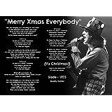 Slade - Merry Christmas Everybody - 1973 - lyrics - Noddy Holder poster A3 Print, Art