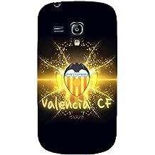 Nuevo diseño famoso FC Valencia del Logo funda para Samsung Galaxy S3mini 3D plástico funda, compatible con Blackberry Z10/Samsung Galaxy S3 Mini i8190, color multicolor