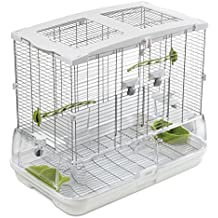 Animalmarketonline Voliera gabbia riparo uccelli calopsite parrocchetti canarini cocorite L 61 x P 38 x H 53 cm