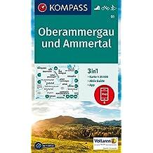 Oberammergau und Ammertal: 3in1 Wanderkarte 1:35000 mt Aktiv Guide inklusive Karte zur offline Verwendung in der KOMPASS-App. Fahrradfahren. Langlaufen. (KOMPASS-Wanderkarten, Band 5)