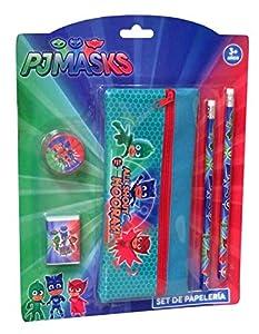 Licencias- Set de papelería con portatodo, Multicolor (GS-406-PJ)
