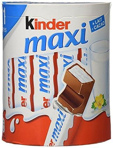 Kinder Barres avec un Cœur au Lait Délicieusement Fondant Enrobé de Tendre Chocolat 231 g - Lot de 14