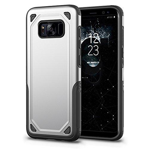 HHF Cases & Covers Für Samsung Galaxy S8 Stoßfest Robuste Rüstung Schutzhülle (Color : Silver) -