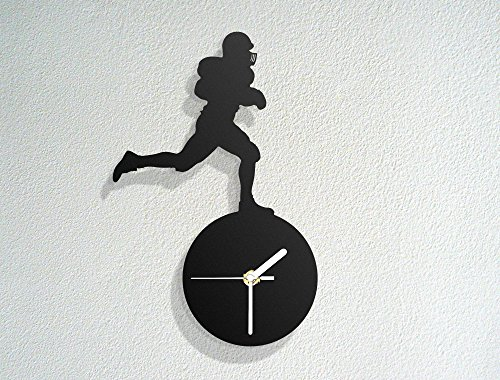 Black Runner Rugby (Rugby Runner - Rough Sports - Team Game - Leage Championship - Modern Novelty Gift - Custom Acrylic Wall Clock)